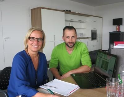 Die Emas Auditorin Ulrike Jäger und unser Umweltbeauftragter Tobias Stengel.