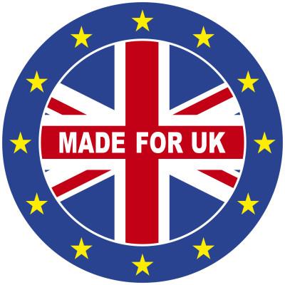 Hier sehen Sie das Logo Made for UK.
