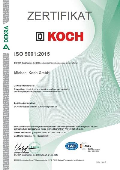 Rezwertifizierung ISO