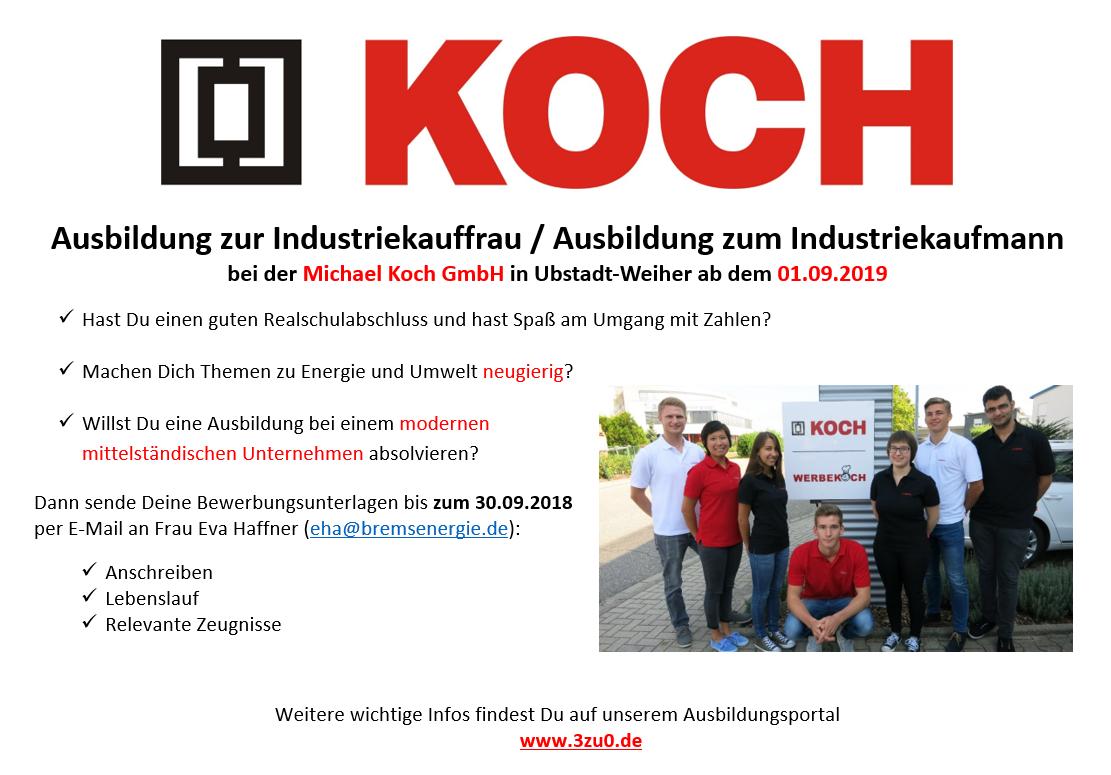 Der neue Azubiflyer der Michael Koch GmbH